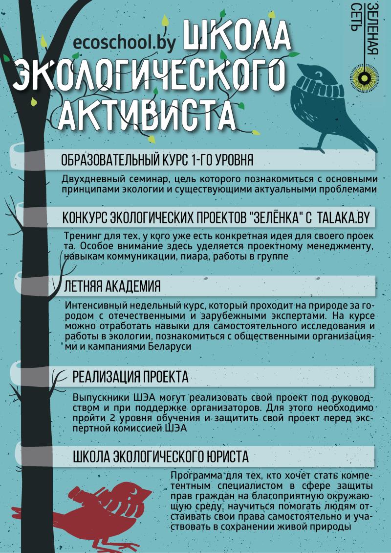 Школа экалагічнага актывіста адкрывае набор-2016!